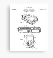 Gameboy Patent Drawing Blueprint Metal Print
