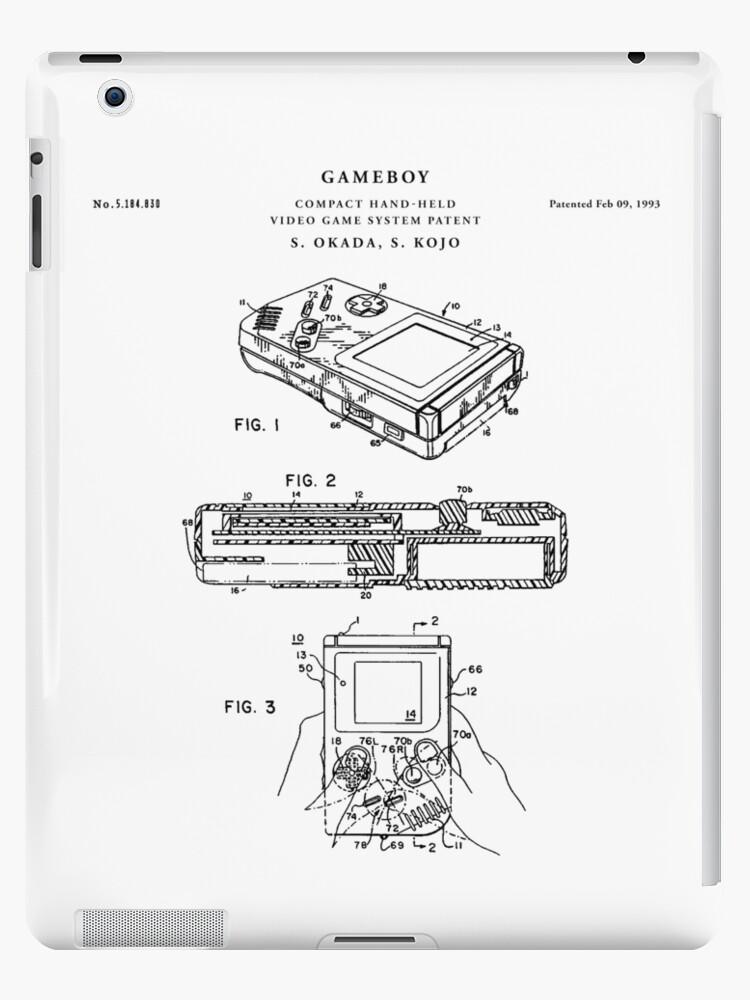 Gameboy patent drawing blueprint ipad cases skins by vintago gameboy patent drawing blueprint by vintago malvernweather Images