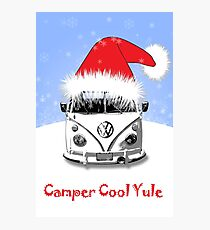 Camper Cool Yule Blue Photographic Print
