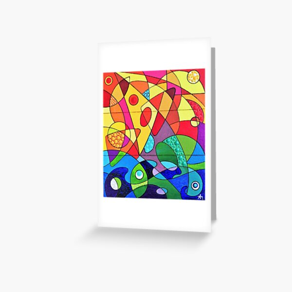 Wind, sails and waves Greeting Card