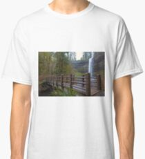 Wood Bridge at Silver Falls State Park Classic T-Shirt