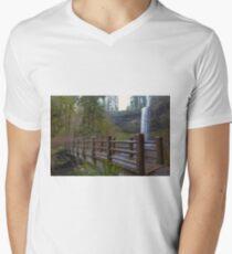 Wood Bridge at Silver Falls State Park Men's V-Neck T-Shirt