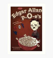 Once Upon a Breakfast Dreary - Edgar Allan P-O-e's  Art Print