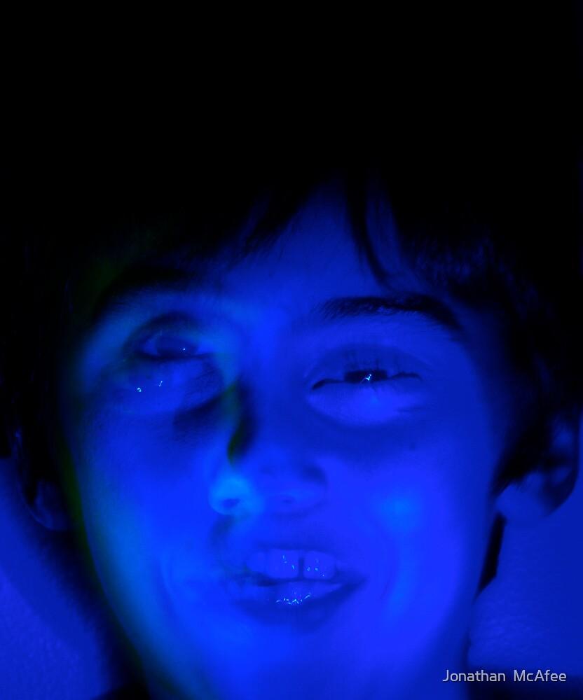 Sad Blue Face by Jonathan  McAfee