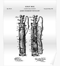 Golf Patent Drawing Blueprint Poster
