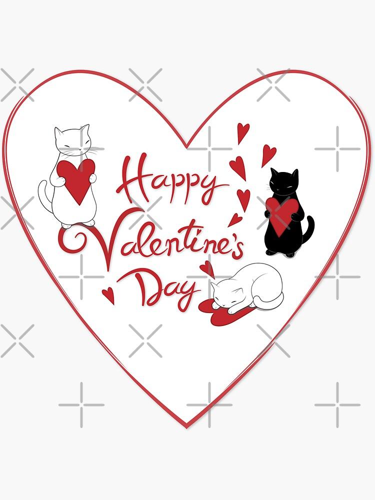 Happy Valentine's Cats de runcatrun