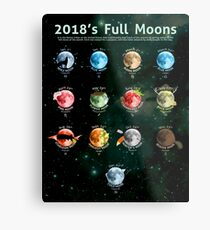 2018's Full Moons Metal Print