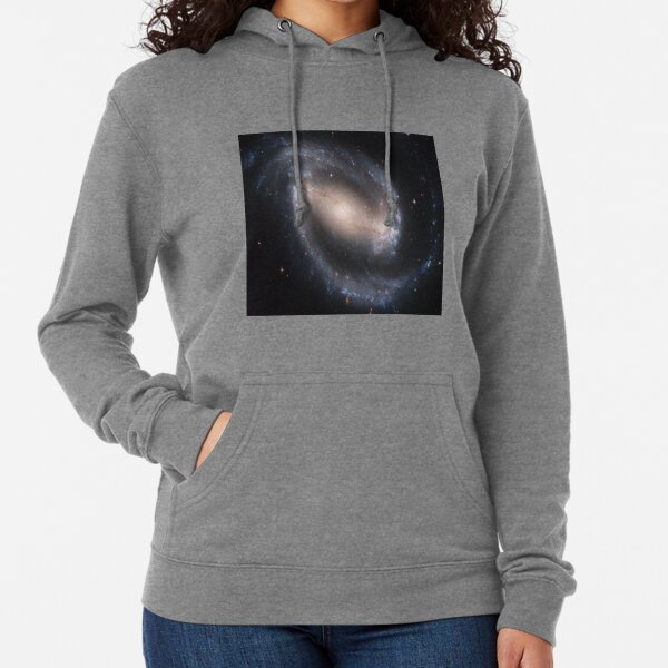 NGC 1300, Barred spiral galaxy in the constellation Eridanus, Astronomy, Cosmology, AstroPhysics, Universe Lightweight Hoodie