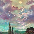White Moon Rising by Randy Burns