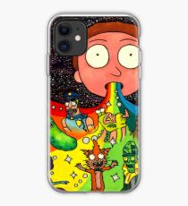 Toxic Rick and Morty Street Art Rainbow Painting iPhone 11 case