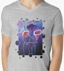 Purple Calla Flowers Men's V-Neck T-Shirt