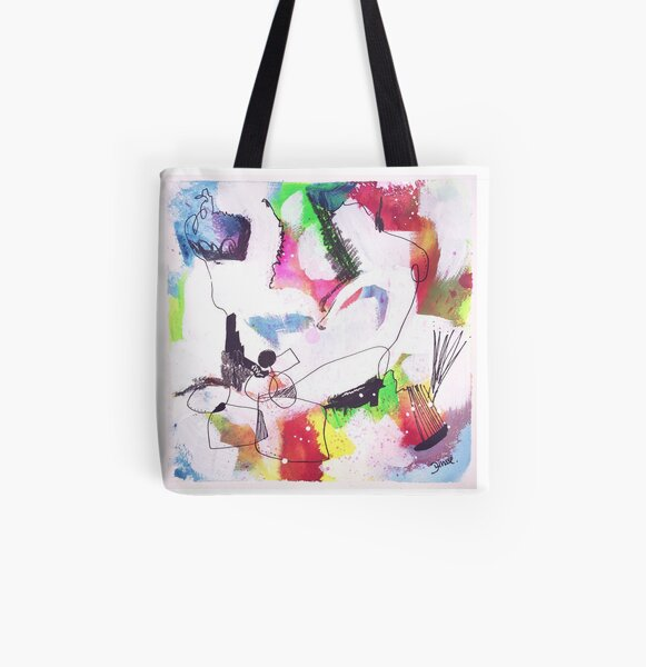 Color Twisted #7 Allover-Print Tote Bag