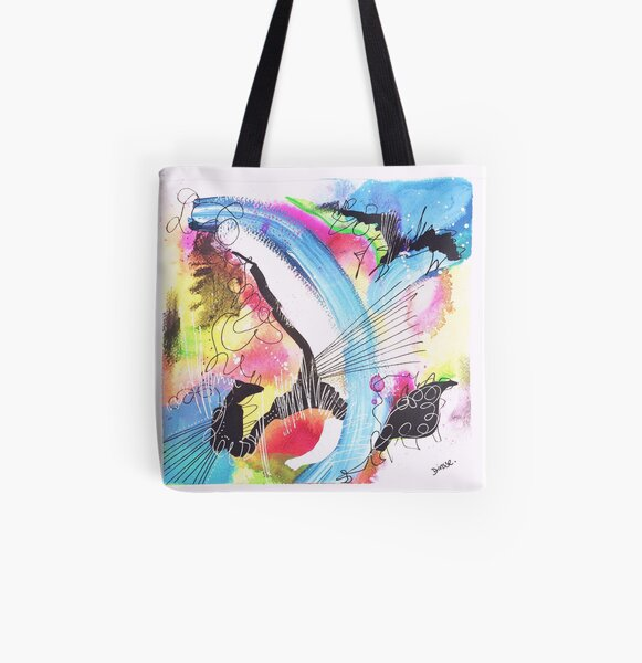 Color Twisted #8 Allover-Print Tote Bag