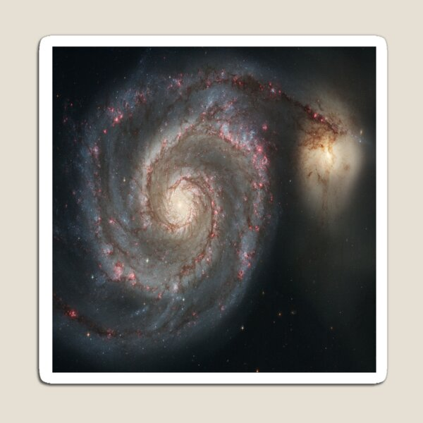 M51 Galaxy - Whirlpool Galaxy, Astronomy, Cosmology, AstroPhysics, Universe Magnet