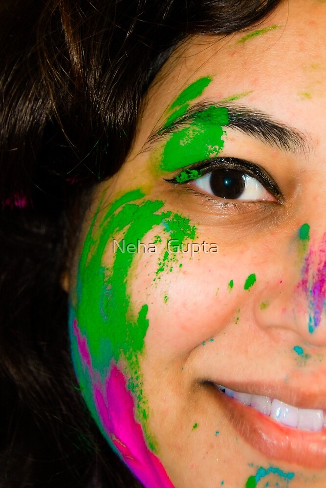 Holi Face by Neha  Gupta
