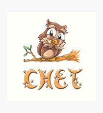 Chet Owl Art Print