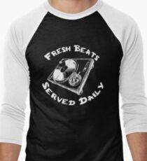 Fresh Beats Served Daily Men's Baseball ¾ T-Shirt