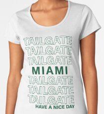 Grüne Miami Heckklappe Premium Rundhals-Shirt