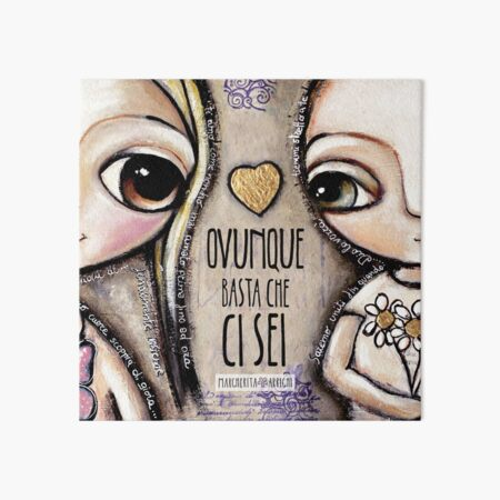 Child Lovers with big eyes Art Board Print