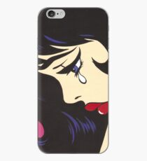 Black Curl Crying Comic Girl iPhone Case