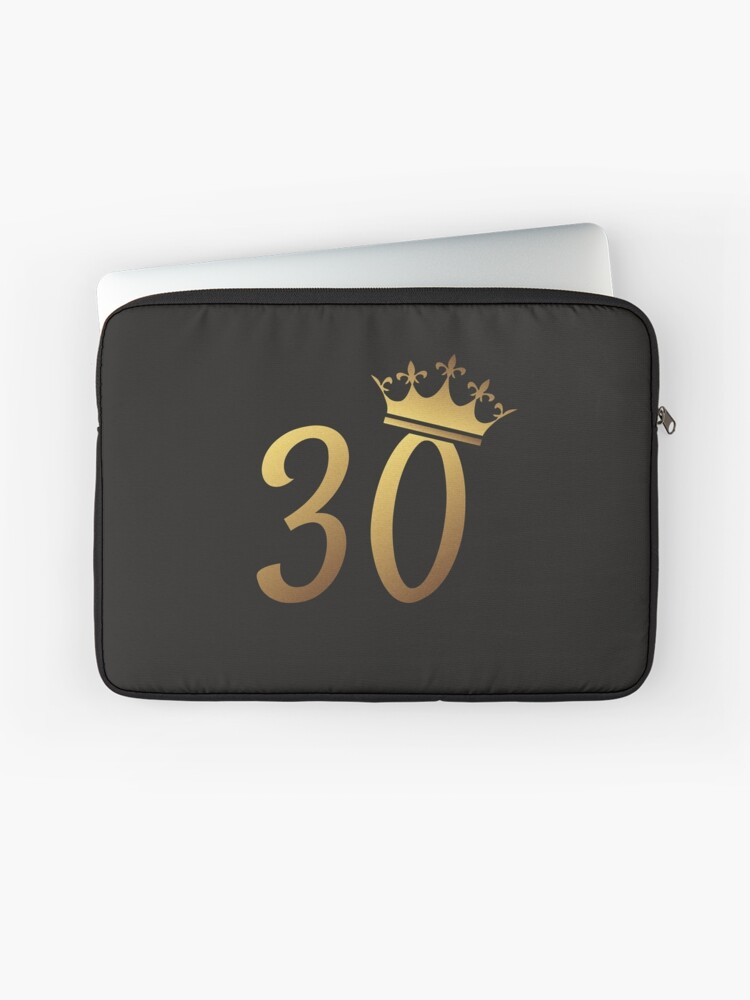 30th Birthday Queen 30 Year Old Girl Gold Party Gift Laptop Sleeve