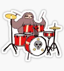 Drum Set Sloth Sticker