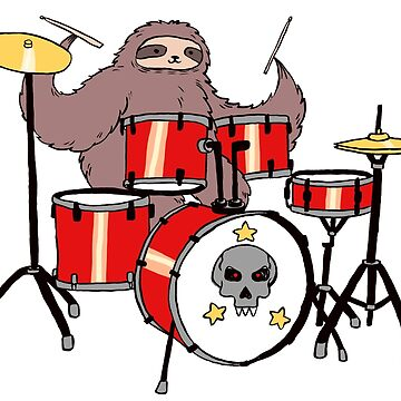 Drum Set Sloth by SaradaBoru