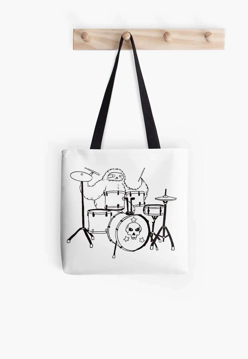 Black Line Drum Set Sloth by SaradaBoru