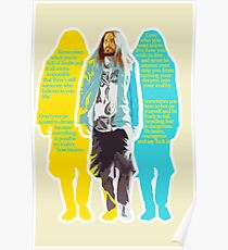 Jared Leto - words of wisdom Poster