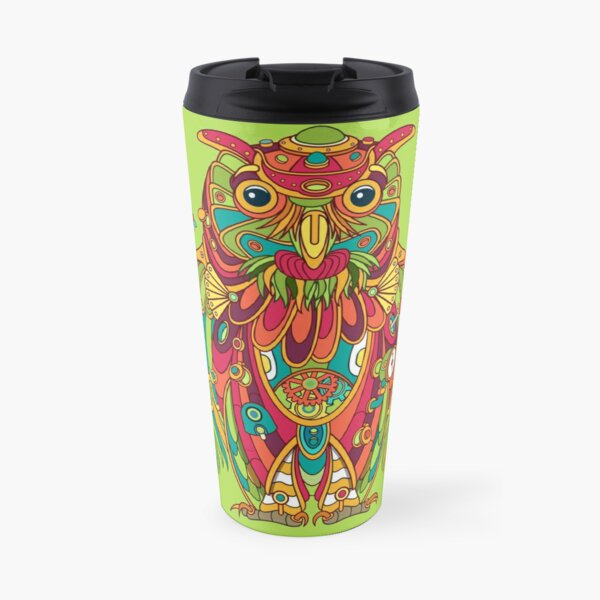 Owl, cool art from the AlphaPod Collection Travel Mug