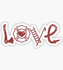 Love Firefighter Sticker