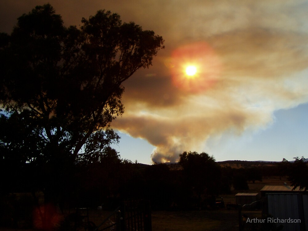 Bushfire in the Weddin Mountains, January 2006 by Arthur Richardson