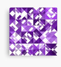 Ultra Violet Purple White Polygon Art Pattern Canvas Print
