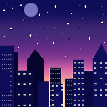 Pixel Night by KanekoKumori