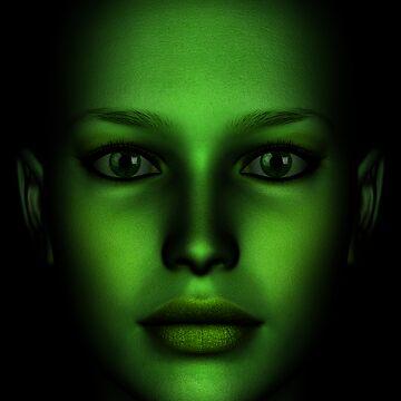 Face Green 02 by JevoUK