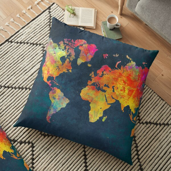 Carte du monde Coussin de sol