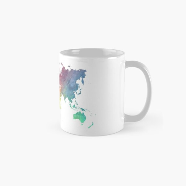 Map of the world colored Classic Mug