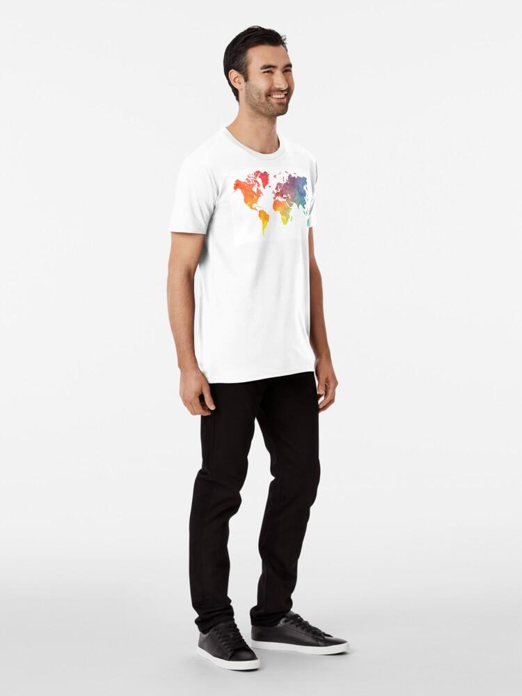 Alternative Ansicht von Karte der Welt gefärbt Premium T-Shirt