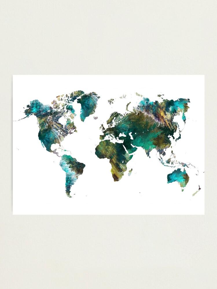 Alternate view of World Map tree #worldmap #map Photographic Print