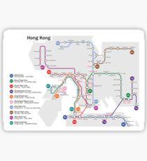 Hong Kong MTR Map (Metro) - China - Asia Sticker