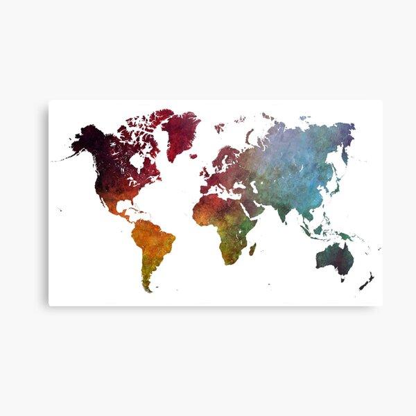 World map #map #worldmap Metal Print