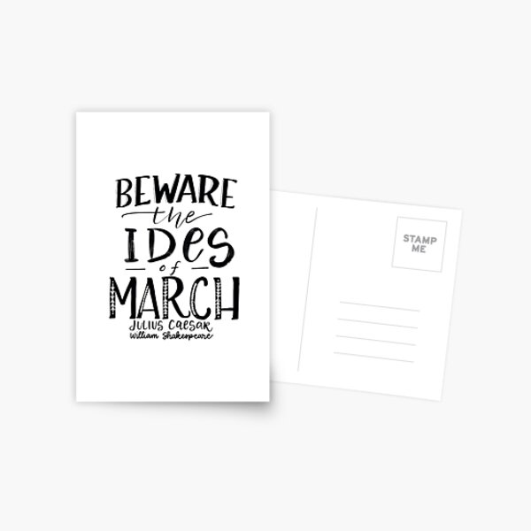 Beware the Ides of March! Postcard