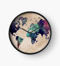 World Map cold World Clock