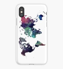 Map world art after Ice age iPhone Case