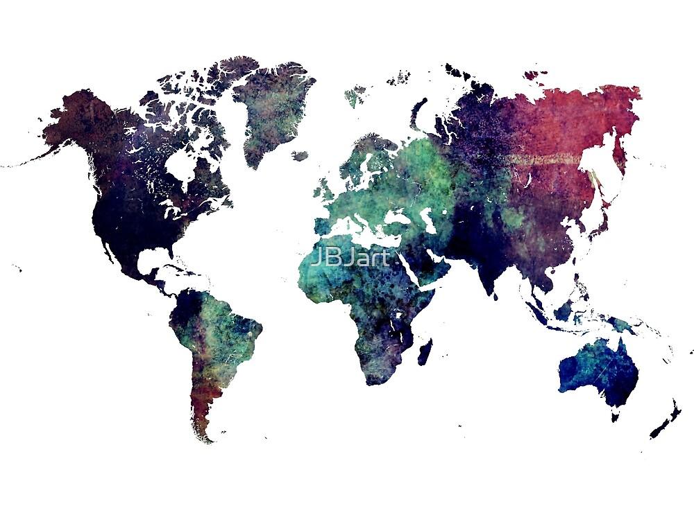Map world art after Ice age #map #worldmap by JBJart