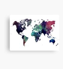 Map world art after Ice age Canvas Print