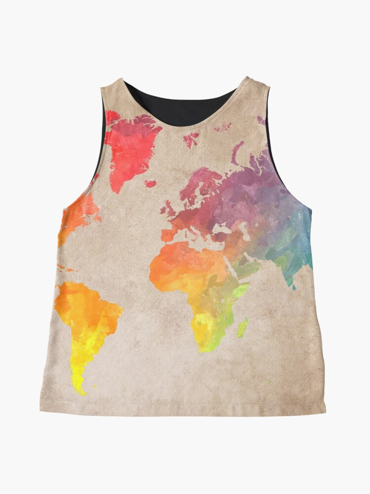Alternate view of World Map maps Sleeveless Top