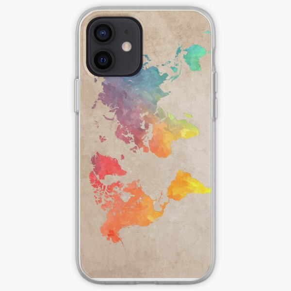 World Map maps iPhone Soft Case