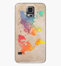 Weltkarte Karten Hülle & Klebefolie für Samsung Galaxy