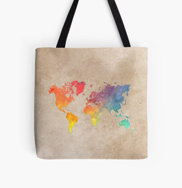 World Map maps All Over Print Tote Bag
